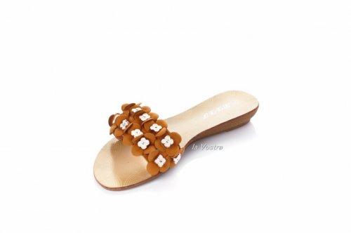 Шльопанці жіночі BDDS 5146 (літо, коричневий)