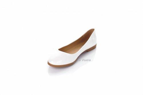 Балетки женские CHC-Shoes 2293 (весна-лето-осень, белый)