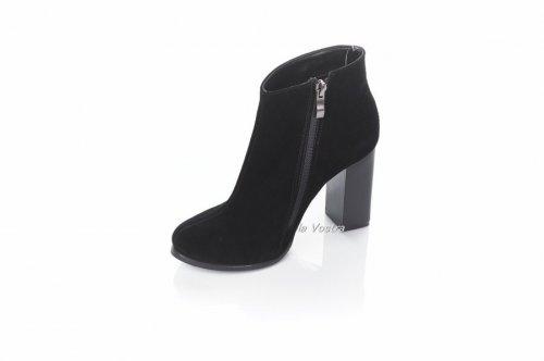 Ботинки женские Днепр 5478 (весенне-осенние, черный, замш)