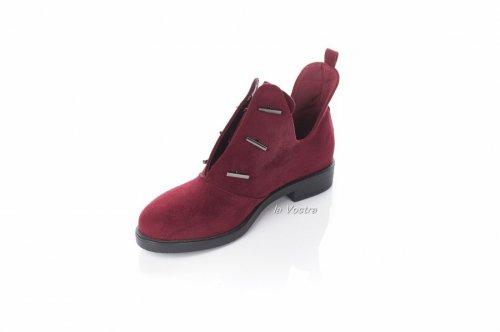 Ботинки женские Mejdelli 2653 (весенне-осенние, красный)