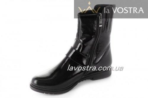 Ботинки женские Днепр 5229 (зимние, черный, лак)