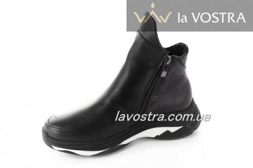 Ботинки женские Днепр 5240 (зимние, черный, кожа-замш)