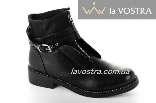 Ботинки женские Seastar 2142 (весенне-осенние, черный, эко-кожа)