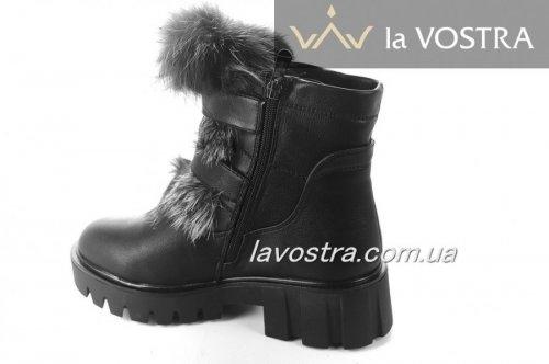 Ботинки женские PLPS 6765 (зимние, черный, эко-кожа)