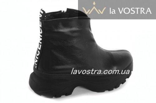Ботинки женские Днепр 6779 (зимние, черный, кожа)