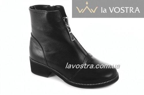 Ботинки женские Днепр 6781 (зимние, черный, кожа)