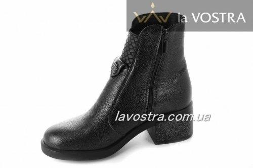 Ботинки женские Днепр 2869 (зимние, черный, кожа)