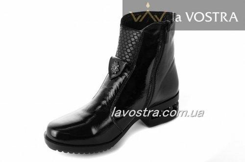 Ботинки женские Днепр 2109 (зимние, черный, наплак)