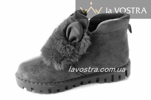 Ботинки женские Basida 2739 (зимние, серый)