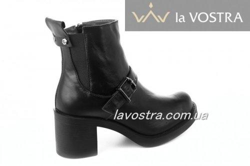 Ботинки женские Sezar 5268 (зимние, черный, кожа)