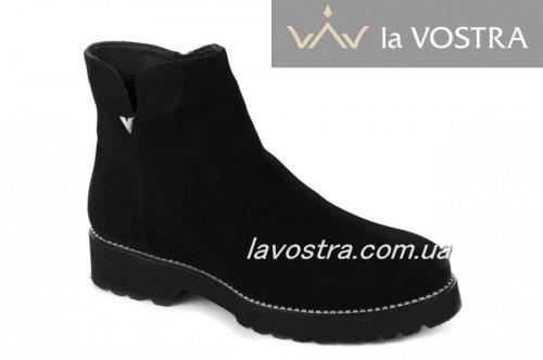 Ботинки женские  2107 (зимние, черный, замш)