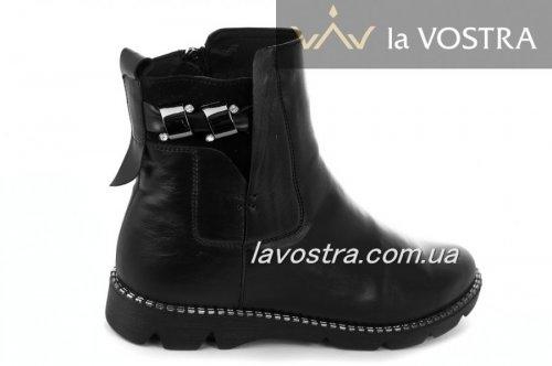 Ботинки женские Днепр 2178 (зимние, черный, кожа)