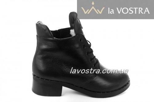 Ботинки женские Днепр 2186 (зимние, черный, кожа)