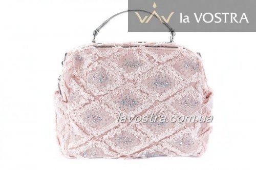 Сумка женская Velina Fabbiano 7060 (розовый, текстиль)