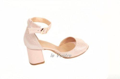 Босоножки женские Jasmine 647рк (лето, розовый, кожа)