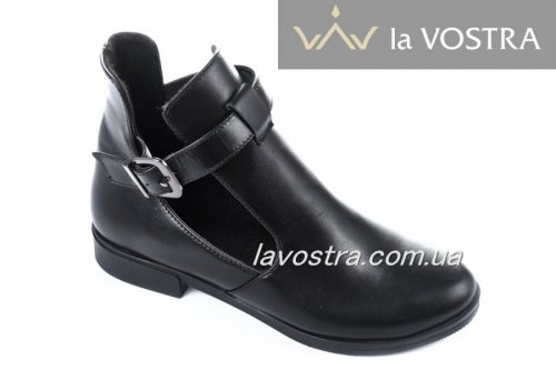 Ботинки женские Днепр 170чк (весенне-осенние, черный, кожа)