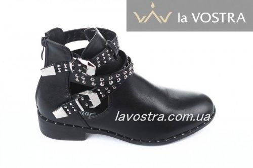 Ботинки женские Seastar 2810 (весенне-осенние, черный, эко-кожа)
