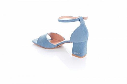 Босоножки женские Seastar 7729 (весна-лето-осень, голубой, эко-замш)