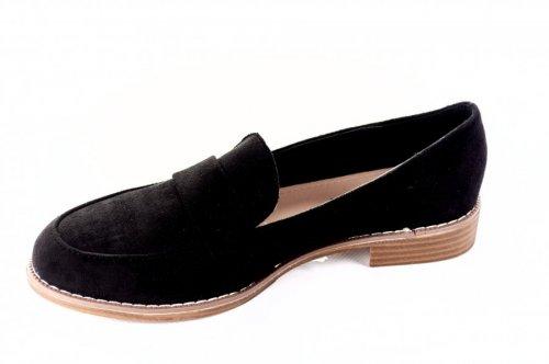 Лофера женские Seastar 7101 (весна-лето-осень, черный, эко-замш)