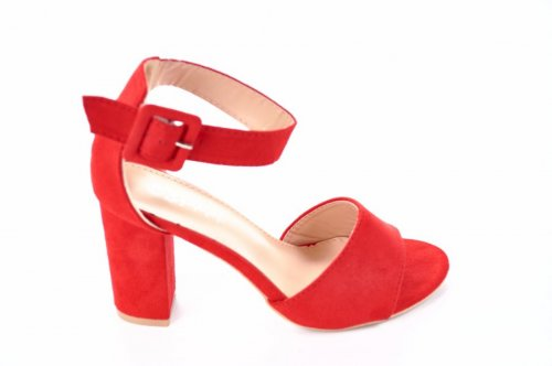 Босоножки женские Seastar 7113 (лето, красный, эко-замш)
