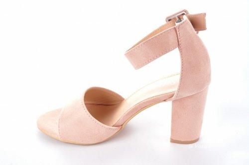 Босоножки женские Seastar 7114 (лето, розовый, эко-замш)