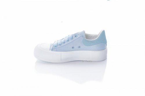 Кеди жіночі Seastar 8091 (весна-літо-осінь, блакитний, текстиль-джинс)
