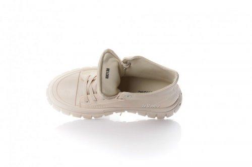 Кросівки жіночі L @ G 8094 (весняно-осінні, бежевий, еко-шкіра)