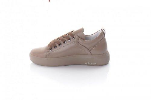 Кросівки жіночі 8097 (весняно-осінні, капучино, шкіра)