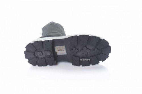 Черевики жіночі N / M 8107 (весняно-осінні, чорний, текстиль)