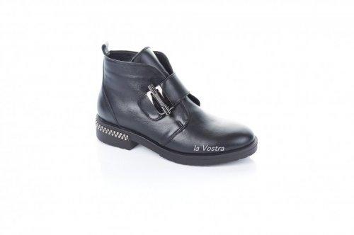 Ботинки женские Modena 7357 (весенне-осенние, черный, кожа)