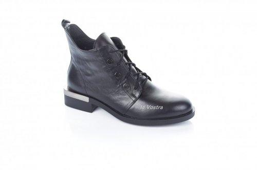 Ботинки женские Modena 6740 (весенне-осенние, черный, кожа)