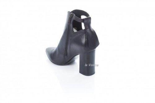 Ботинки женские Style-N 7078 (весенне-осенние, черный, кожа)