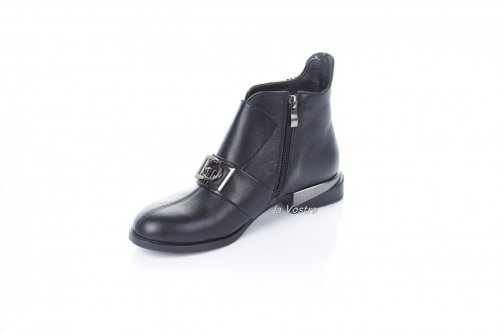Ботинки женские Modeo 7356 (весенне-осенние, черный, кожа)