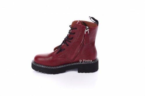 Ботинки женские Seastar 7363 (весенне-осенние, красный, эко-кожа)
