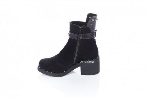 Ботинки женские Sezar 5283 (зимние, черный, замш)