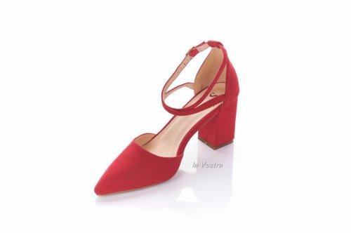 Туфли женские Seastar 5028 (весна-лето-осень, красный, эко-замш)