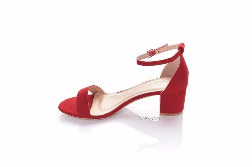 Босоножки женские Yes mile 6254 (лето, красный, эко-замш)