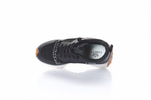 Кросівки жіночі Loreta 8075 (весняно-осінні, чорний, еко-шкіра)