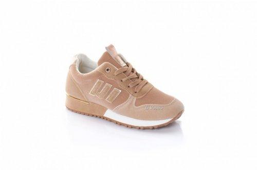 Кросівки жіночі L @ G 8079 (весняно-осінні, бежевий, еко-замш)