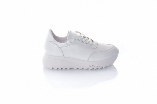 Кросівки жіночі ЕМА 8086 (весняно-осінні, білий, шкіра)