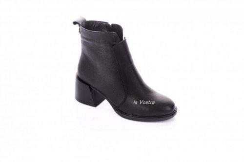 Ботинки женские Continent 7427 (зимние, черный, кожа)
