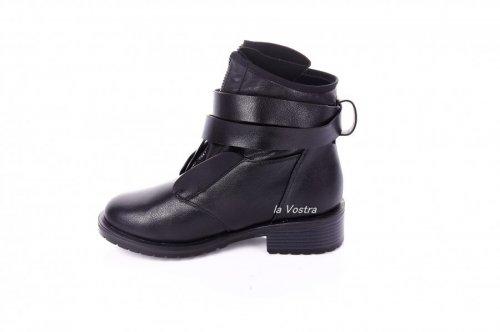 Ботинки женские Dongle 7425 (зимние, черный, эко-кожа)