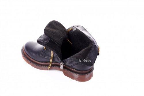 Ботинки женские Maria Sonet 7051 (весенне-осенние, черный, кожа)