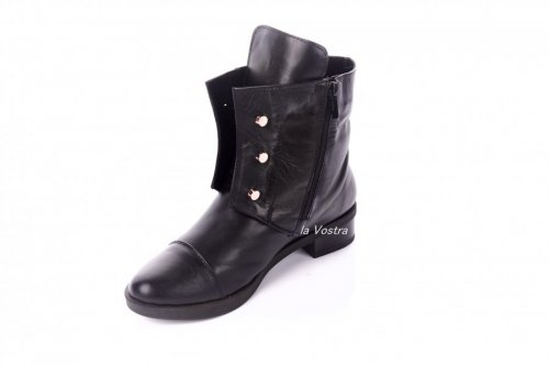Ботинки женские Devis 2879 (весенне-осенние, черный, кожа)