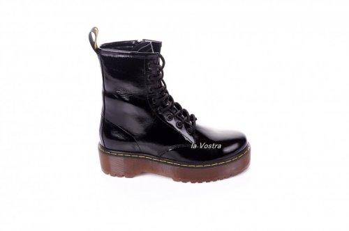 Ботинки женские Maria Sonet 7419 (весенне-осенние, черный, лак)