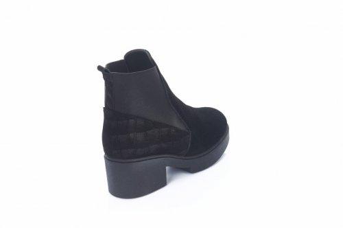 Ботинки женские 402чз (зимние, черный, замш)