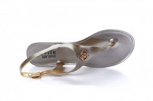 Босоножки женские Haver 7246 (лето, золото, силикон)