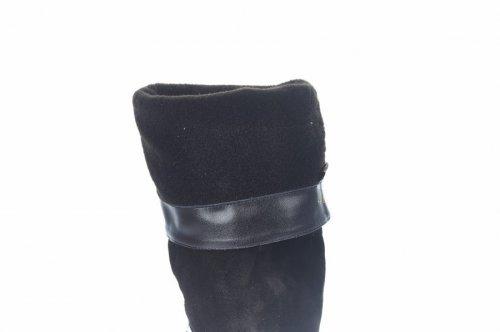 Сапоги женские Nivelie 5456 (весенне-осенние, черный, замш)