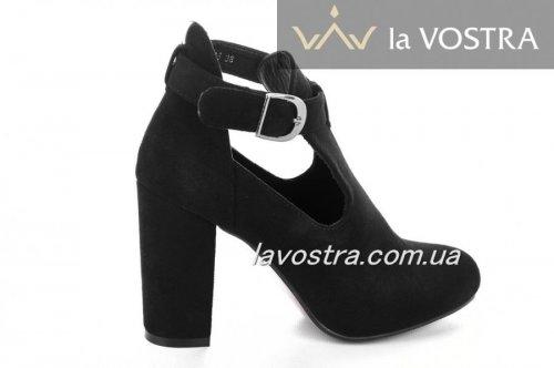 Ботинки женские Andmon 5483 (весенне-осенние, черный, эко-замш)