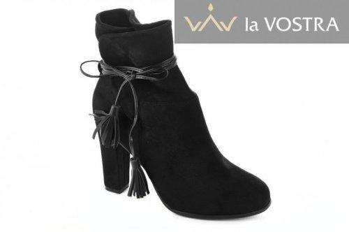 Ботинки женские Seastar 2807 (весенне-осенние, черный, эко-замш)